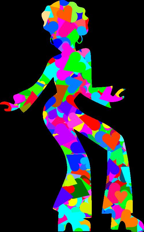 Dance clipart disco. Colourful dancer medium image