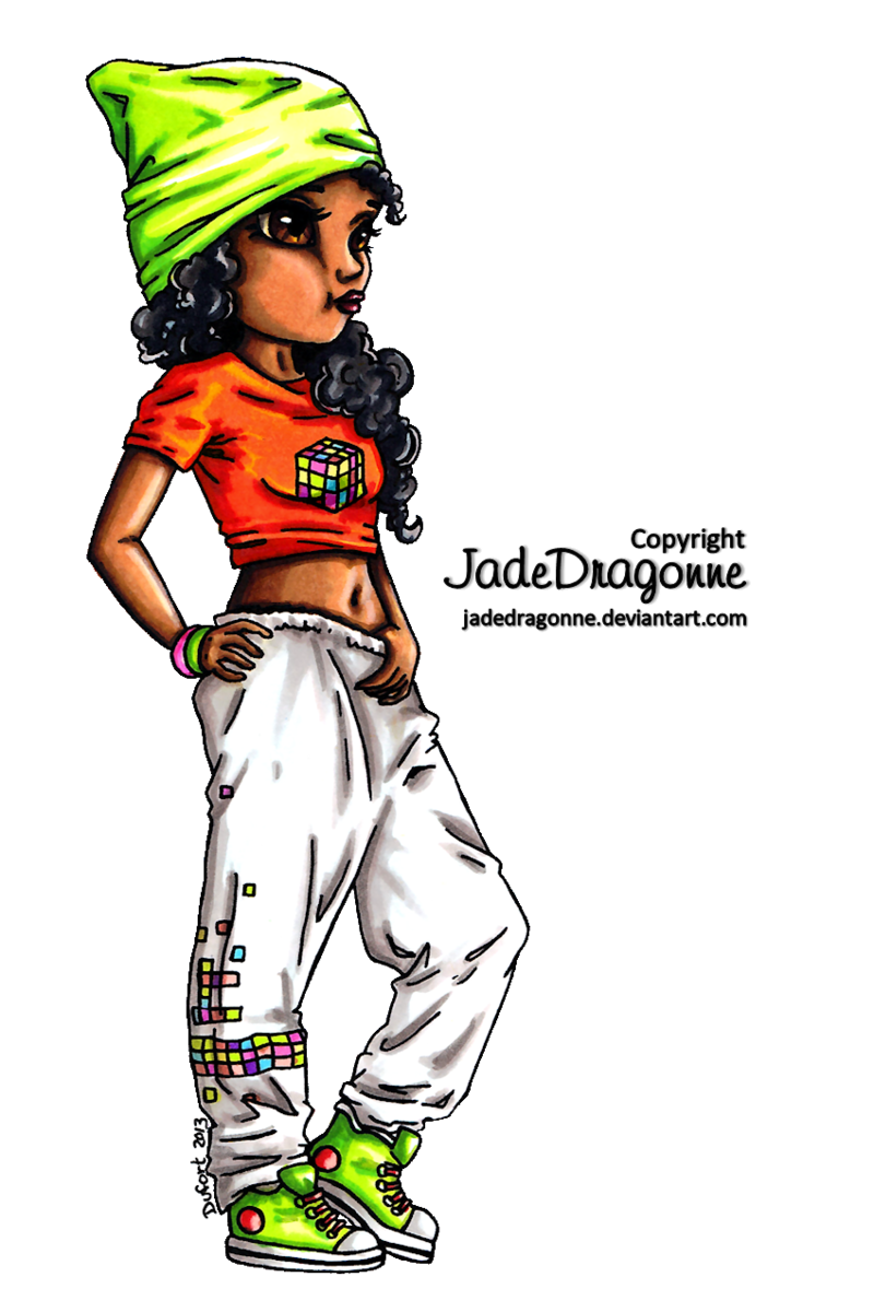 Dancer colored by jadedragonne. Dance clipart hip hop