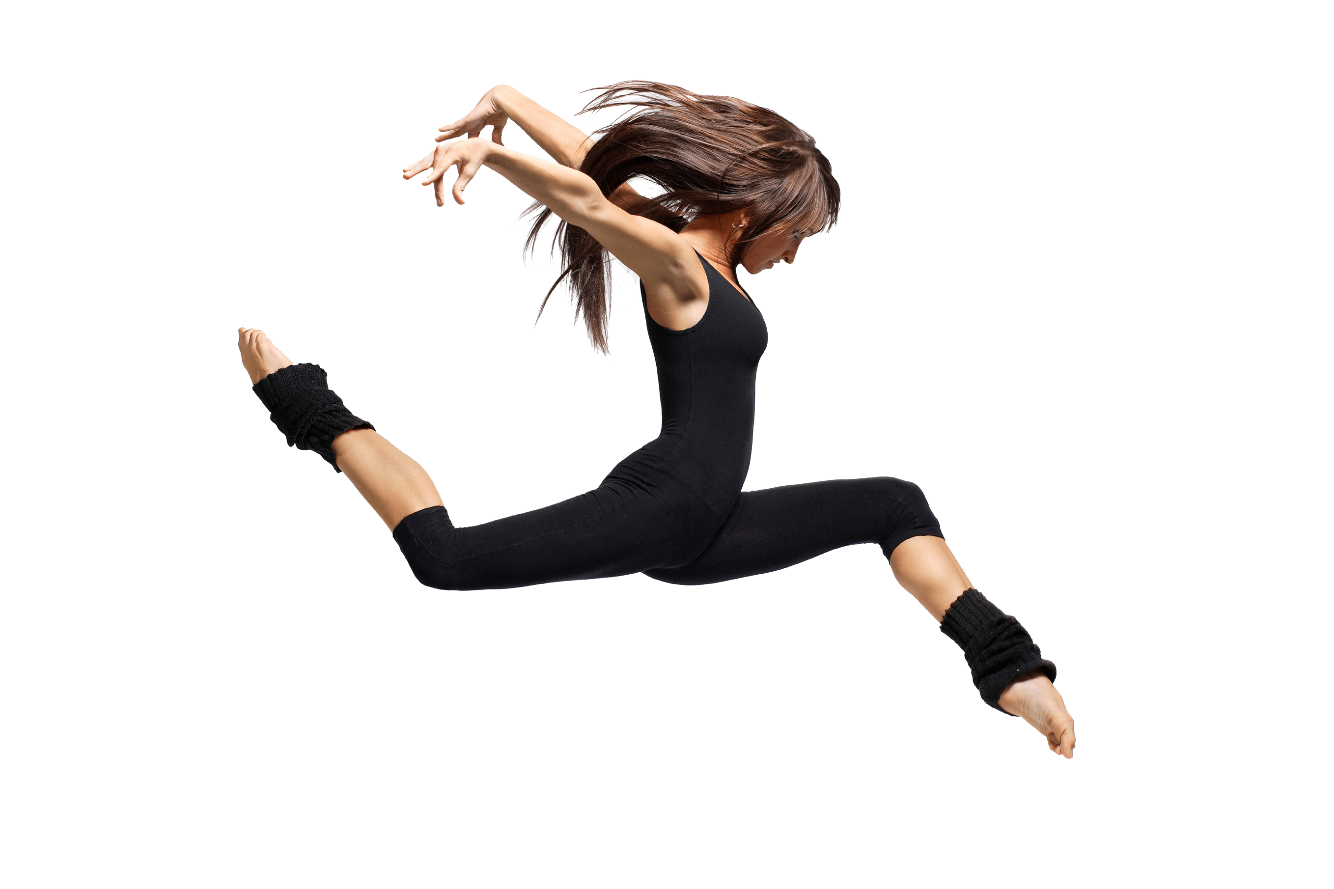 Dancer side jump png. Dance clipart transparent