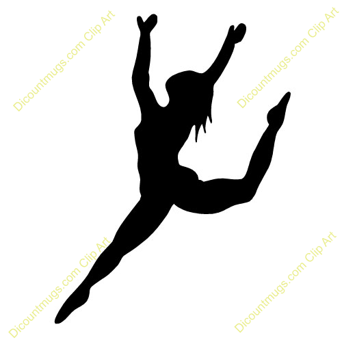 Silhouette panda free images. Dancer clipart