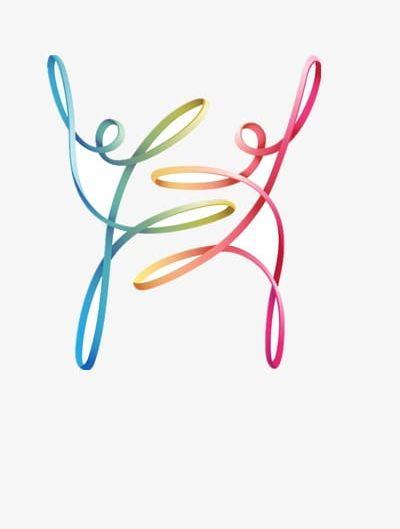 Dancer clipart abstract. Ribbon png dancers art