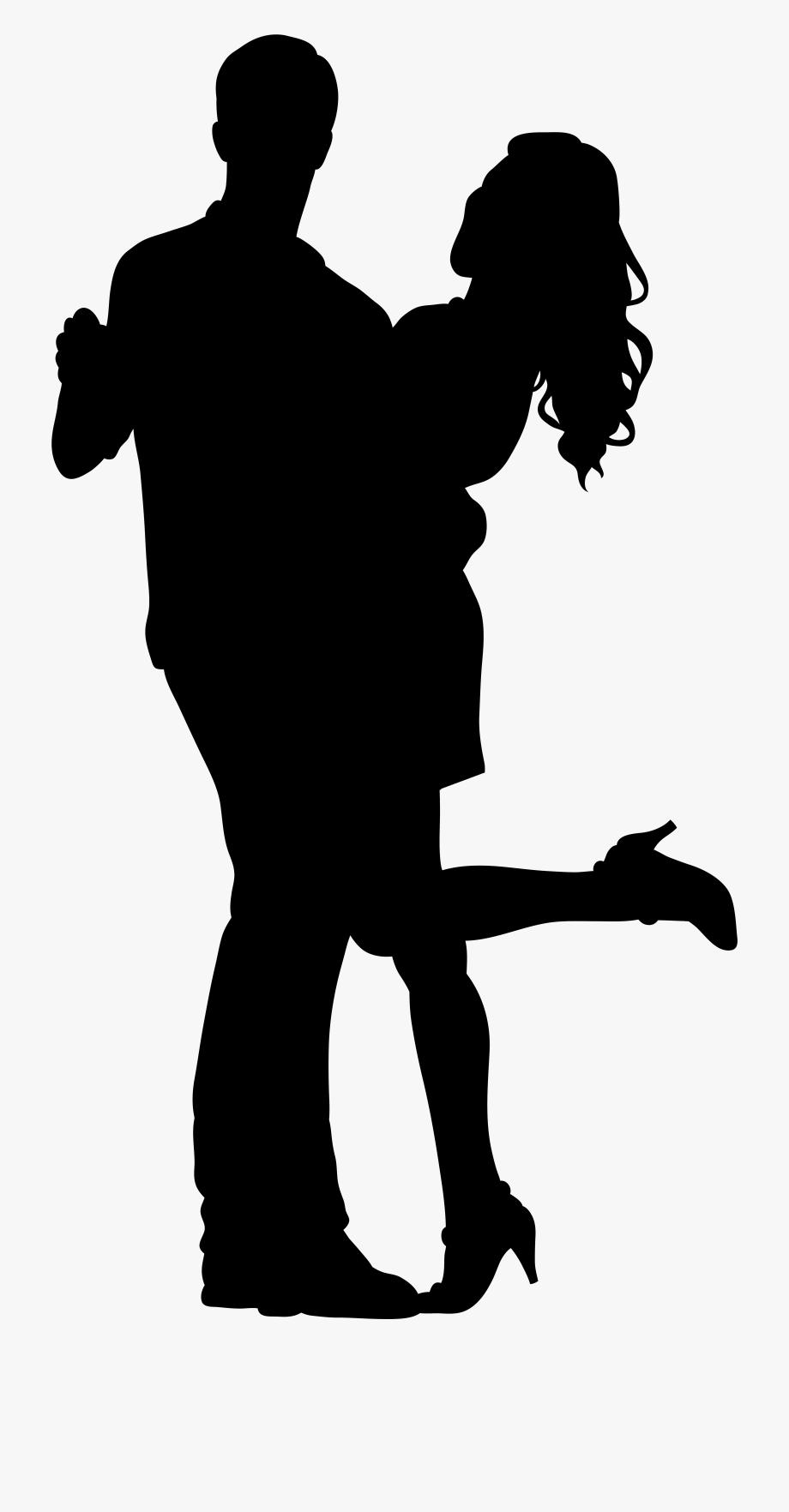 Dancers silhouette png transparent. Dancer clipart couple dance