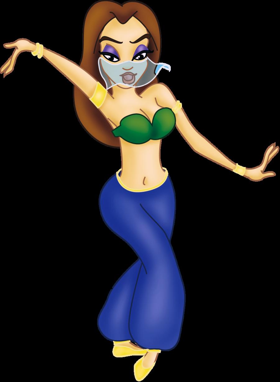 Music belly dancer mascot. Maracas clipart man dancing