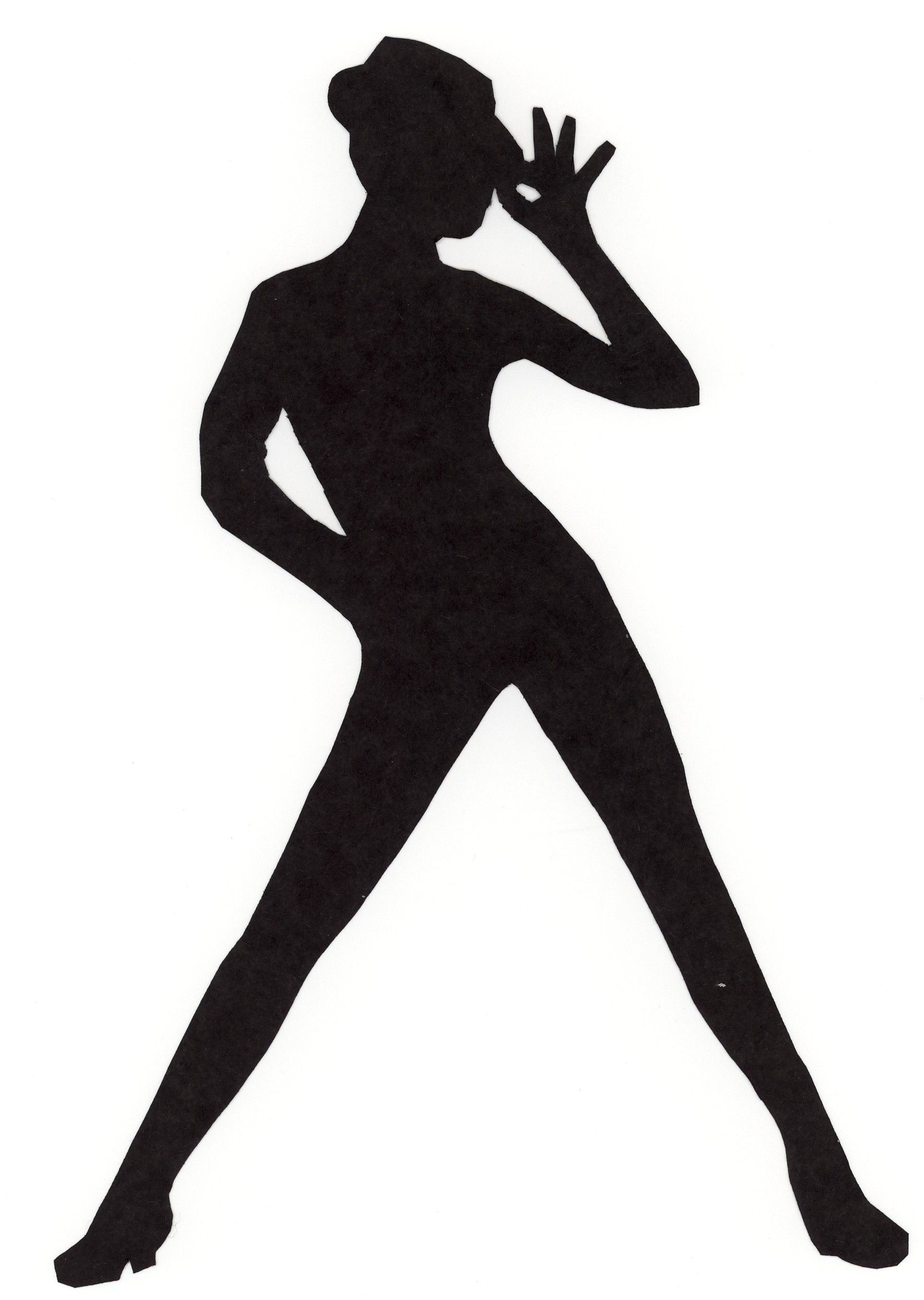 Dancer silhouette shadow forms. Jazz clipart jazz dancing