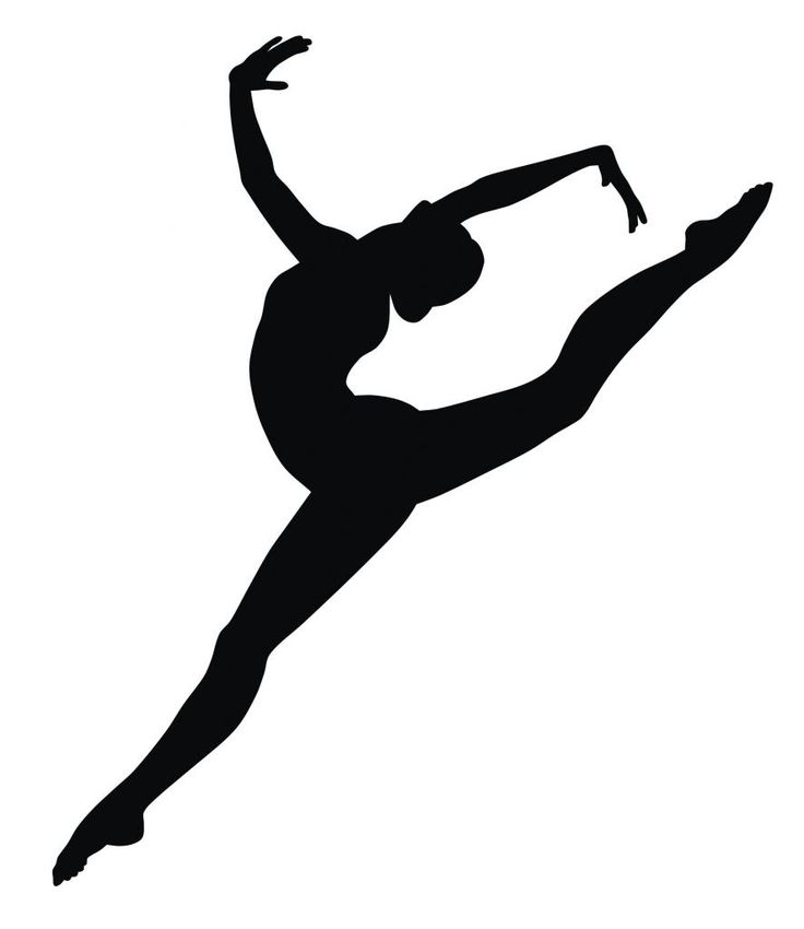 Gymnast clipart vinyl. Free leaping dancer silhouette