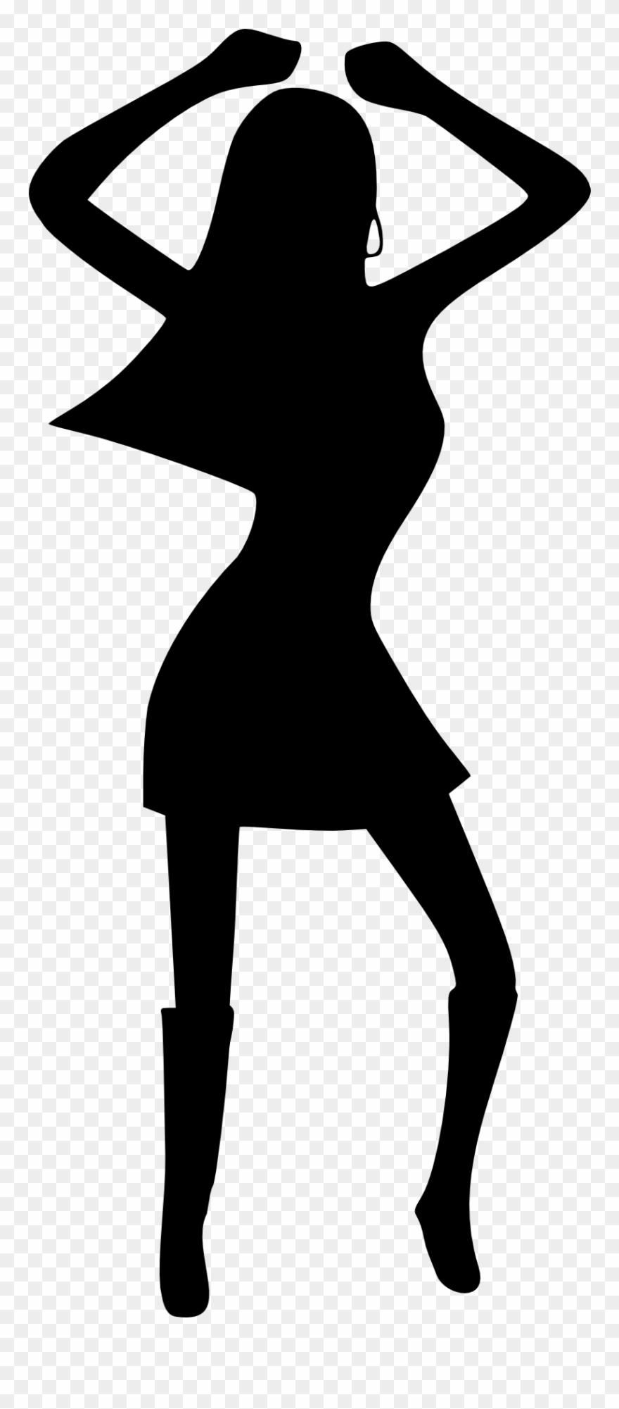 Girl woman dancing disco. Dancer clipart object