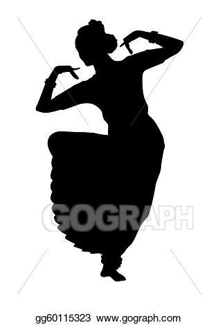 Dancing clipart dance form. Vector art indian drawing