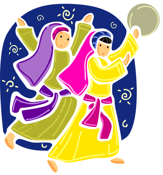 Dancer clipart tambourine. Miriam with from book