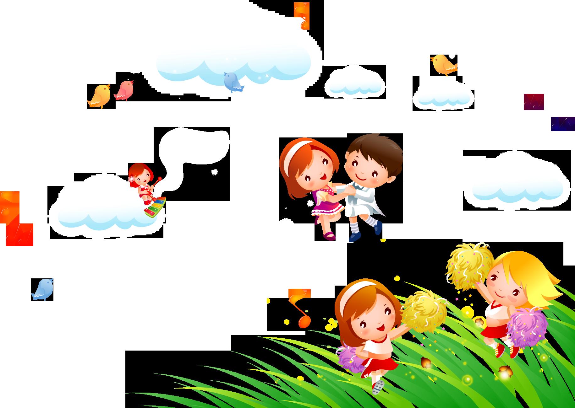 Dance musical note cartoon. Dancing clipart children's