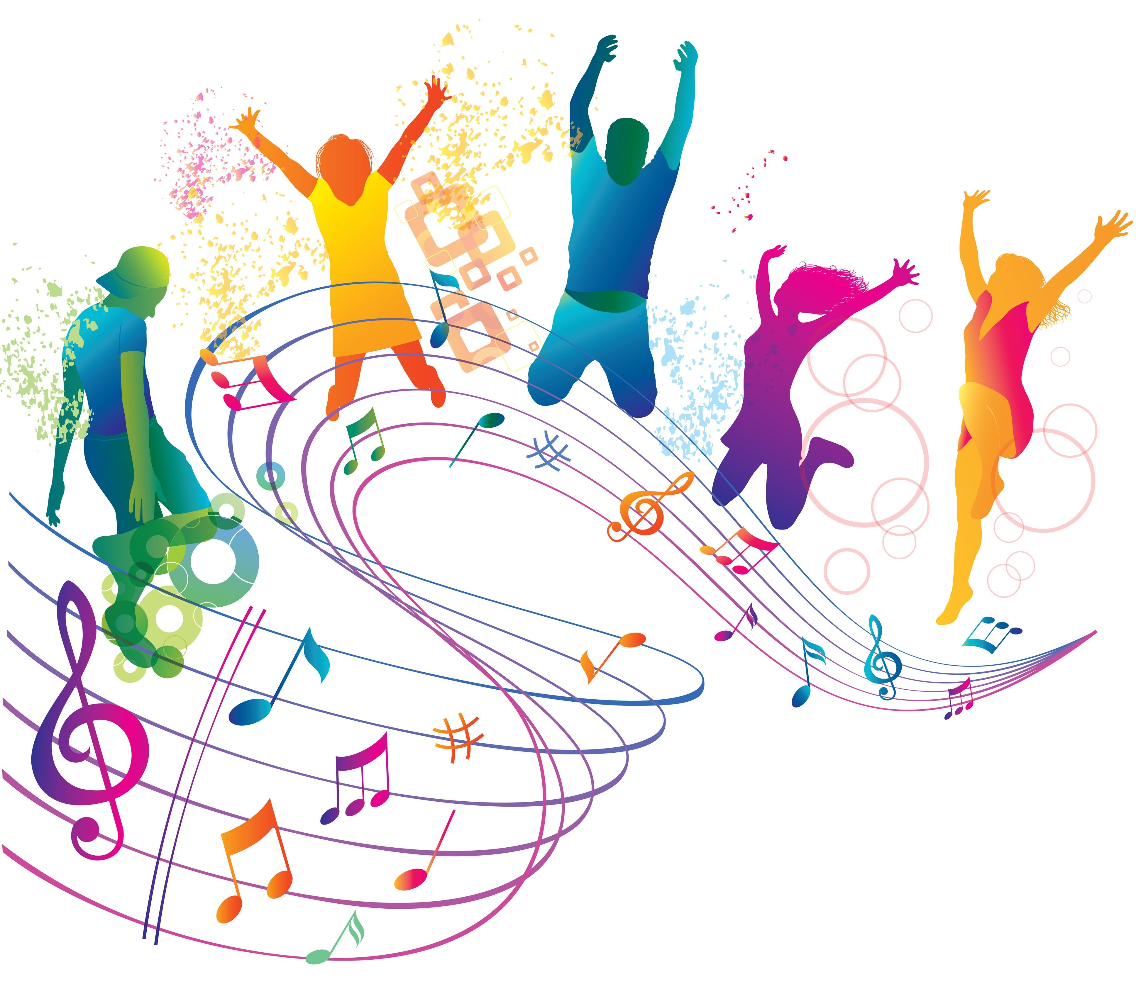Dancing clipart colorful. Free cliparts download clip