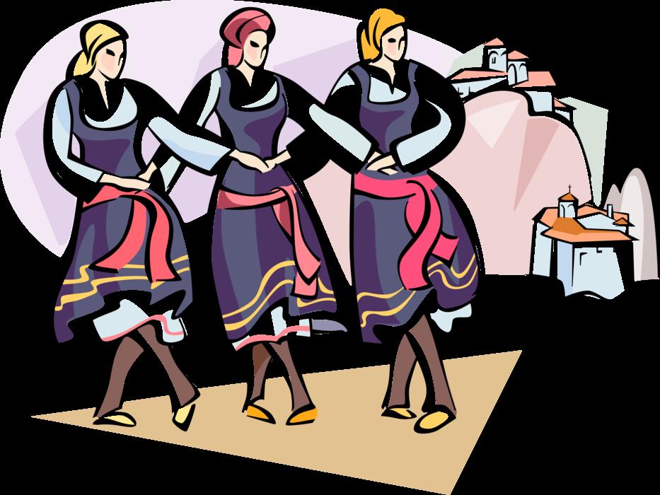 Greek clipart dancer greek. Dancers with meteora monasteries