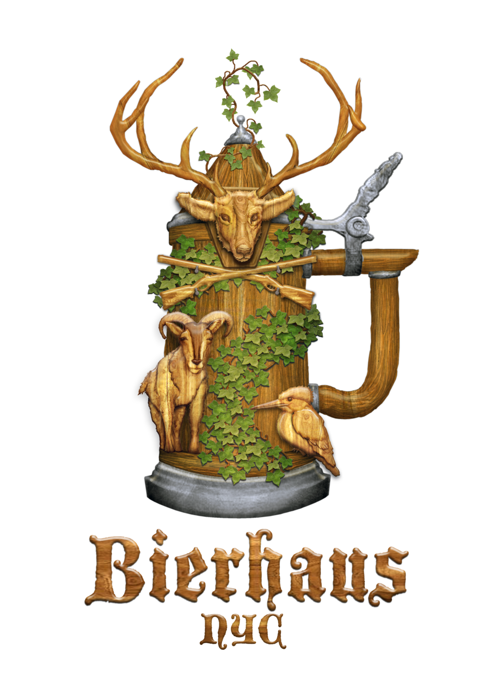 German clipart bavarian pretzel. Bierhaus nyc restaurant biergarten
