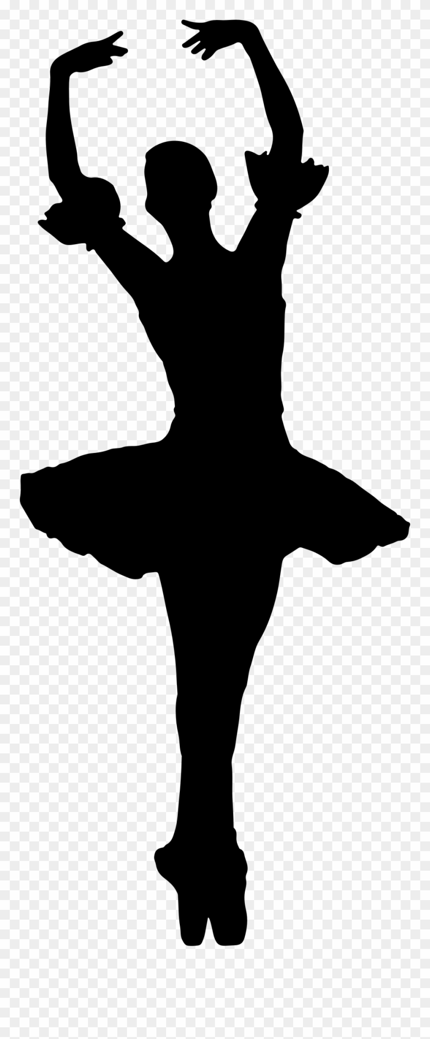 Ballet silhouette . Dancing clipart shadow