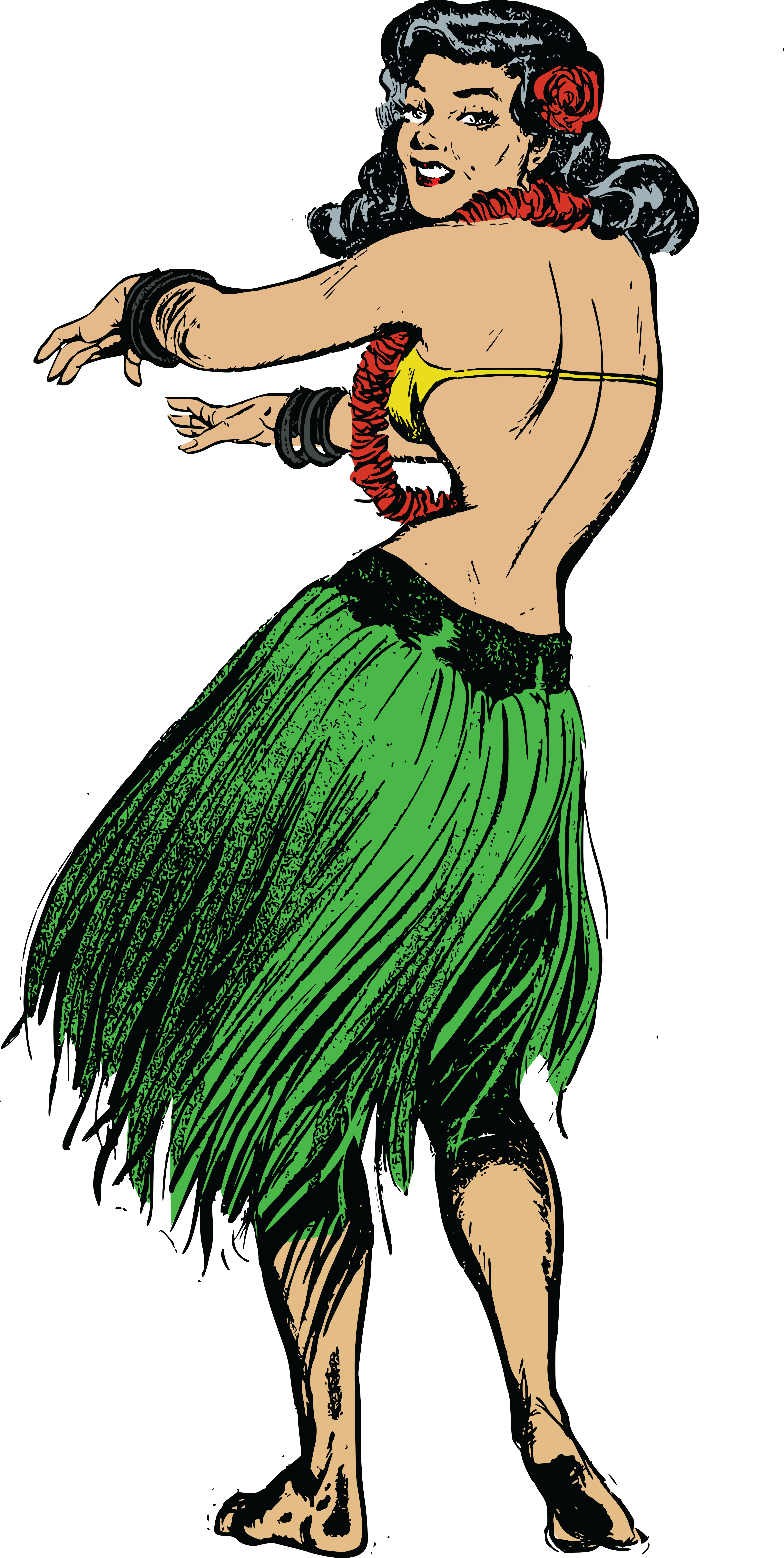 Dancing clipart vintage.  collection of hula