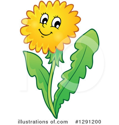 Illustration by visekart royaltyfree. Dandelion clipart