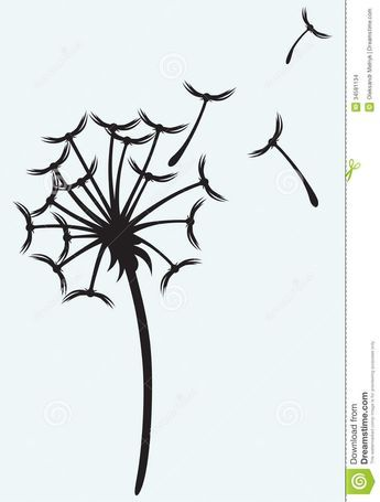 Dandelion clipart. Free download blowing stencils
