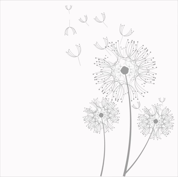 Dandelion clipart royalty free. Line art plant flora