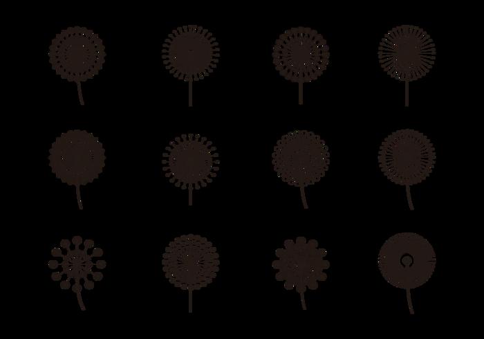Clip art free cliparts. Dandelion clipart simple
