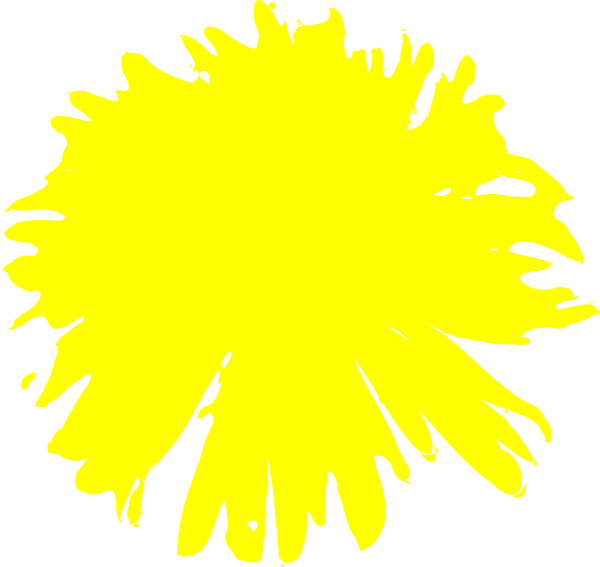 Yellow clip art at. Dandelion clipart svg