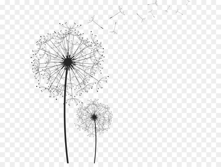 Dandelion clipart vector. Drawing clip art image