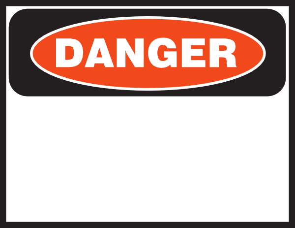 Danger clipart. Signage pencil and in