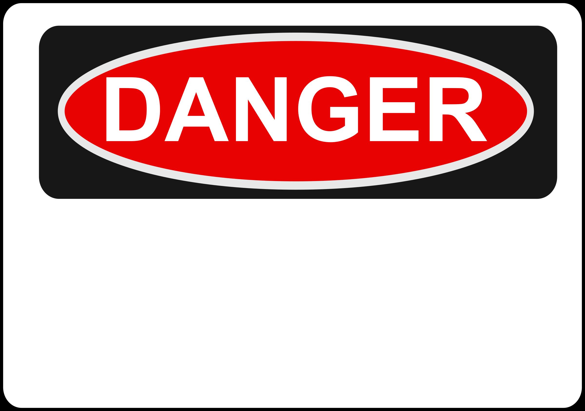 Danger clipart. Blank big image png