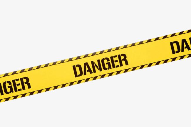 Danger clipart. Yellow warning belt tape