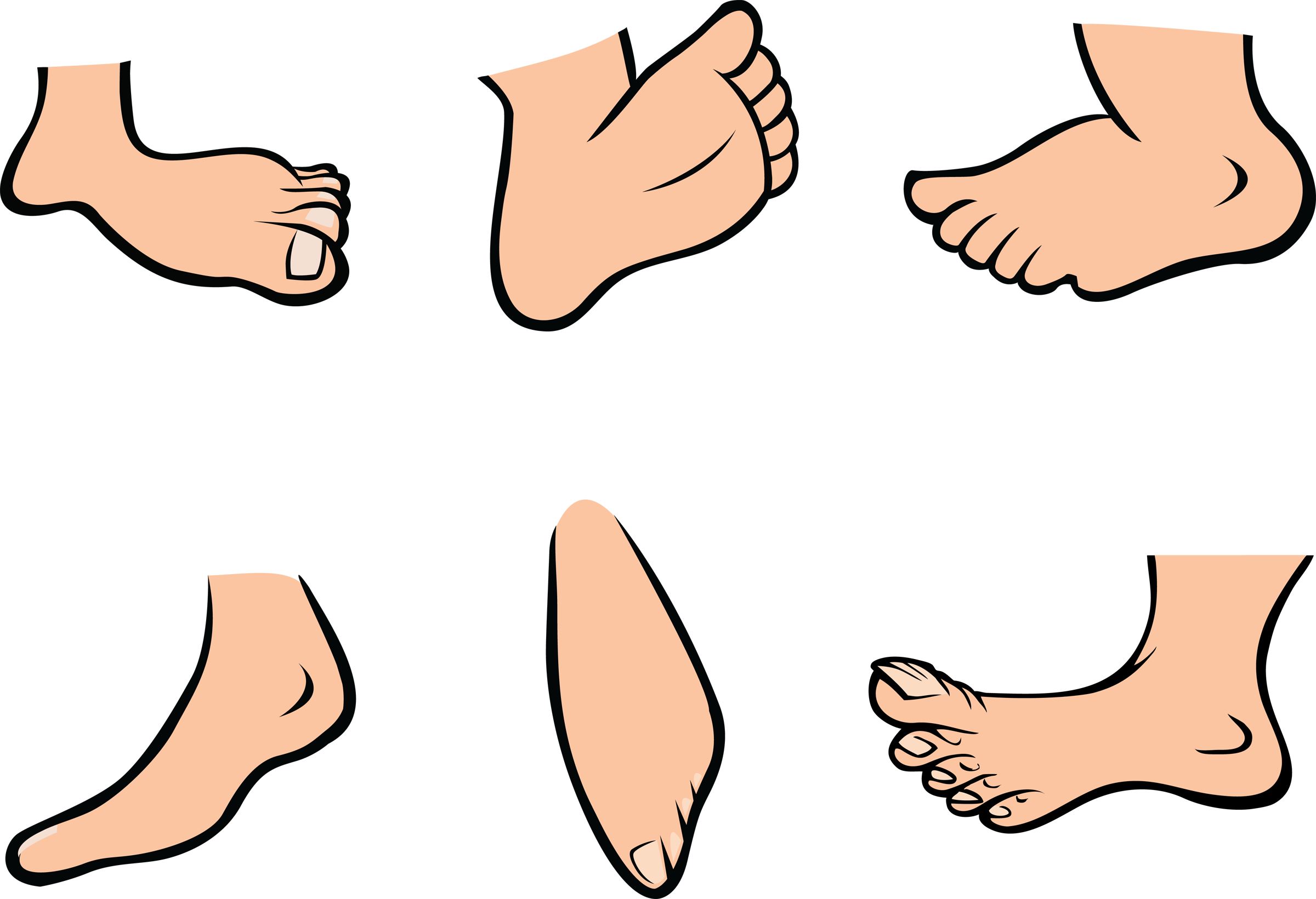 Animated feet . Finger clipart hand foot