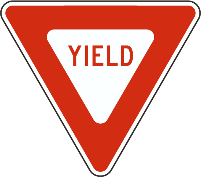 No trucks traffic signs. Danger clipart blank yield sign