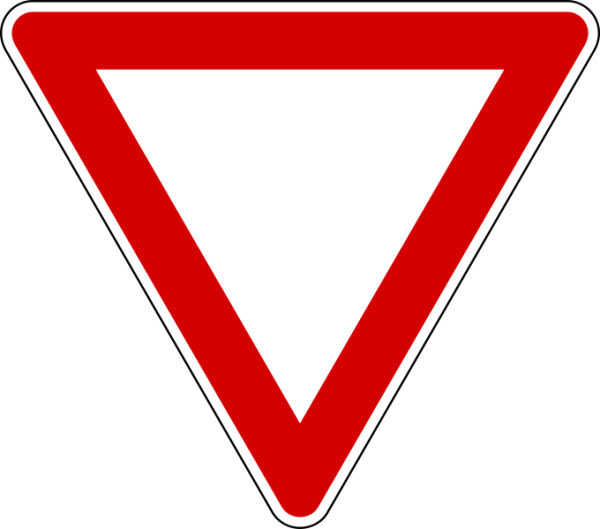Driving in italy italian. Danger clipart blank yield sign