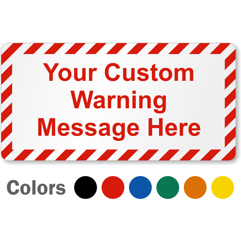 Blank safety labels and. Electric clipart warning