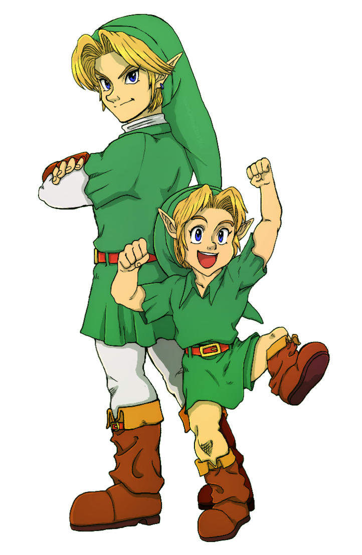 The personality of link. Excited clipart calm person