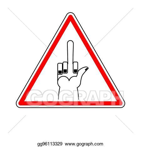 Vector illustration attention to. Danger clipart dangerous road