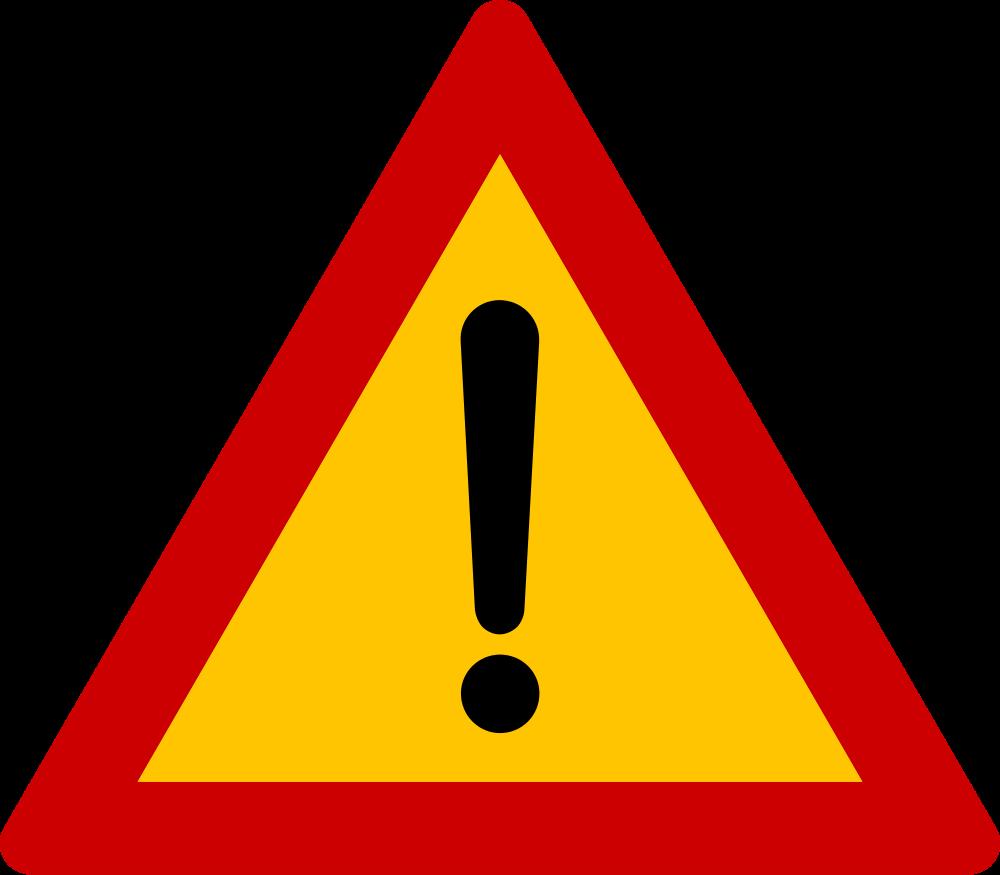 Danger clipart dangerous road. File sign other dangers