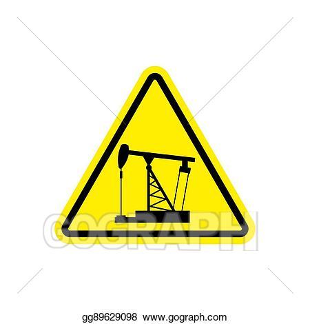 Danger clipart dangerous road. Vector art oil derrick
