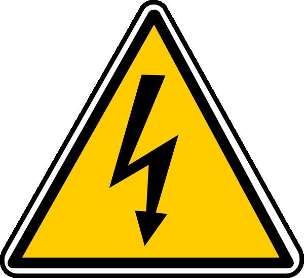 Stress clipart traffic. High tension danger clip