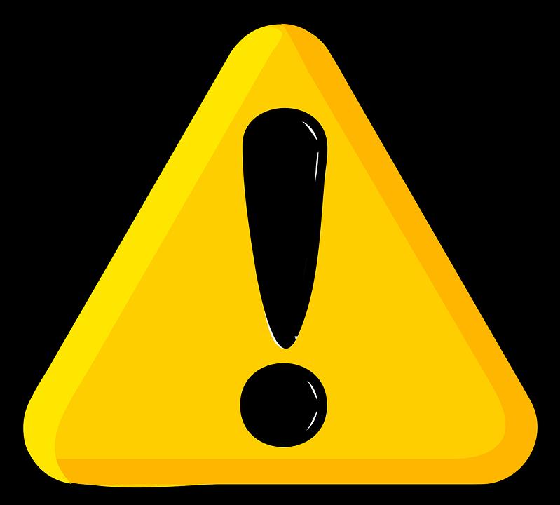Danger pinart chemical hazard. Important clipart explanation mark