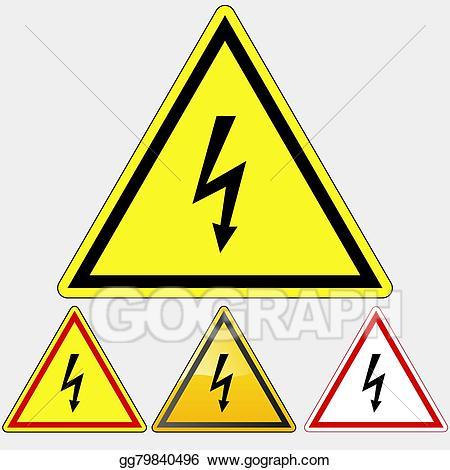 Electrical clipart electrical hazard. Vector art danger sign