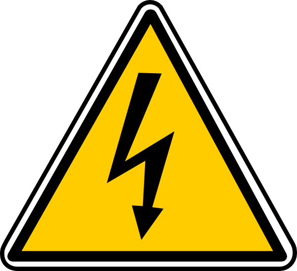Electrical clipart electrical panel. Warning electricity clip art