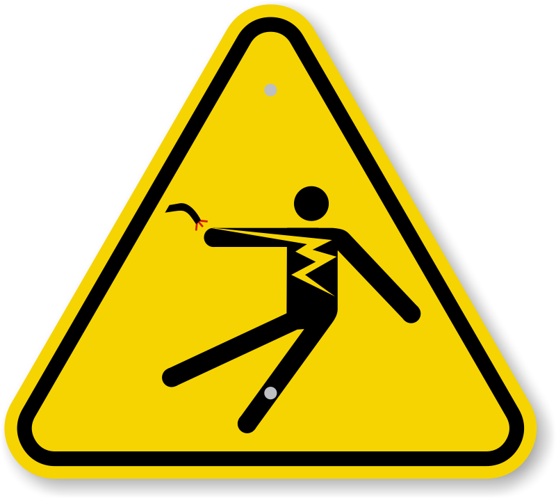 Electrical clipart electricity danger. Shock hazard signs do