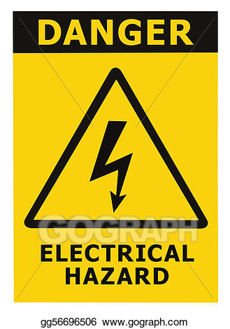 Electric clipart electricity danger. Stock illustration electrical hazard
