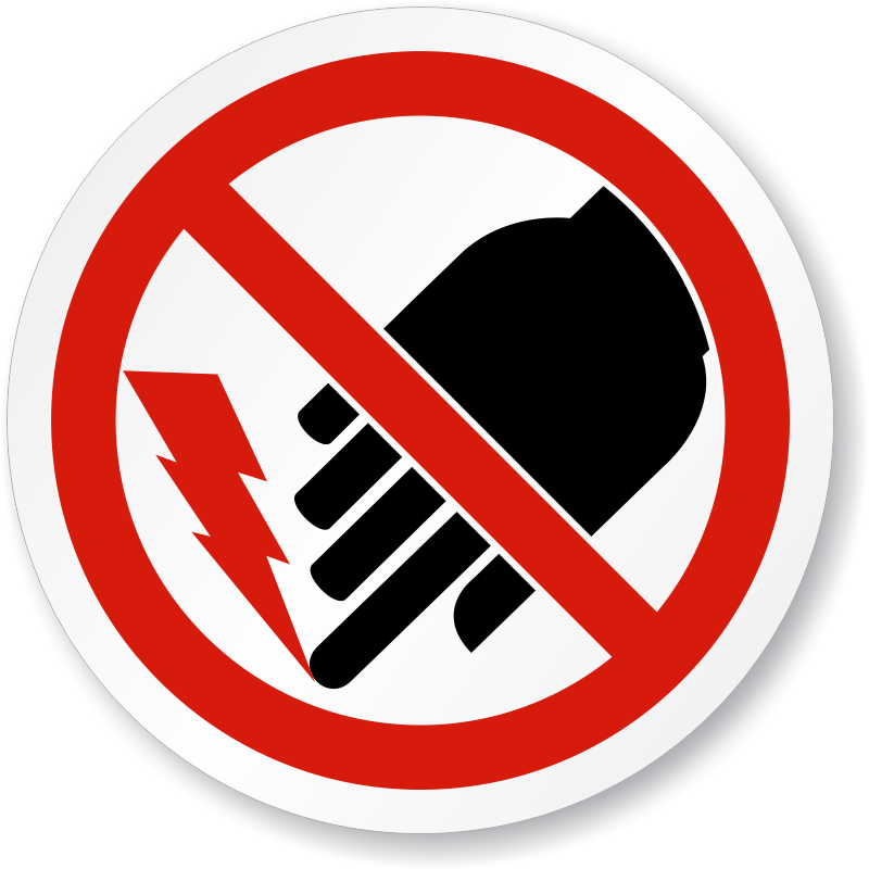 Electric clipart warning. Shock hazard signs do