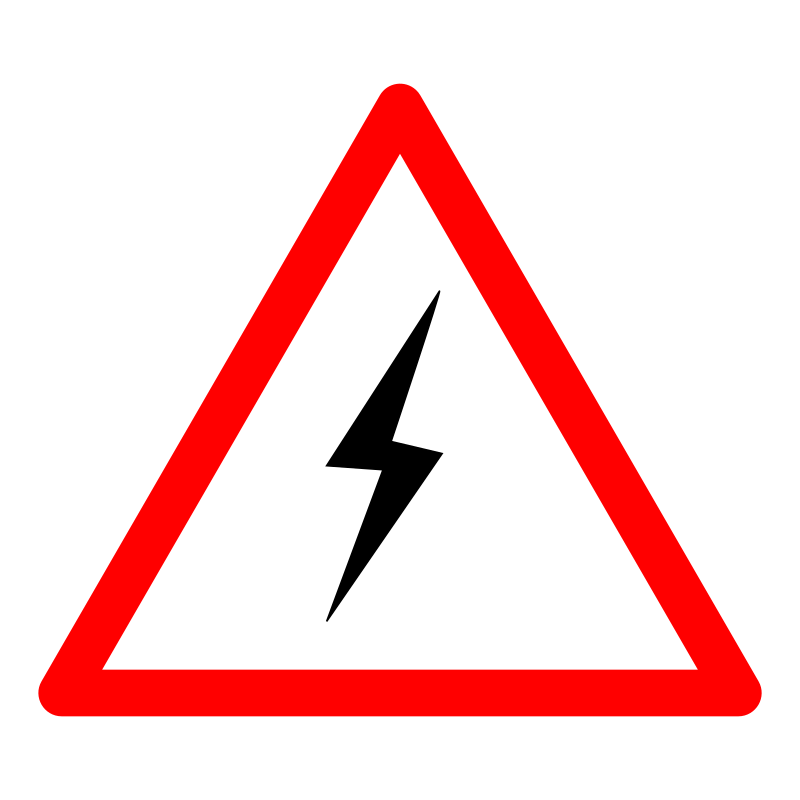 Danger warning sign free. Electric clipart electrocuted