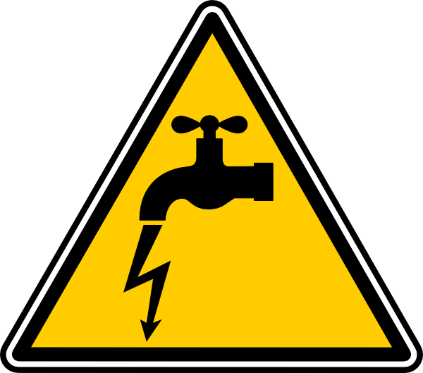 Electrical clipart electrical hazard. Danger electric leakage clip