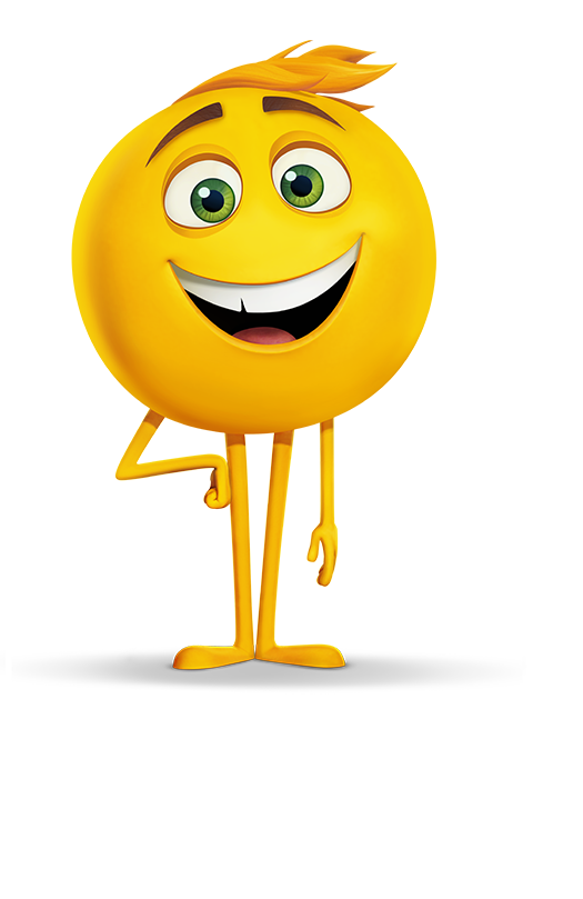 Excited clipart yellow happy face. Gene the emoji movie