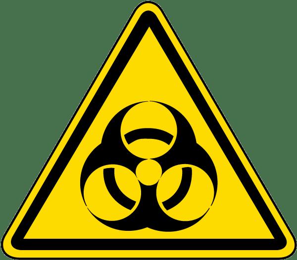 Emergency clipart danger symbol. Biological hazard warning label