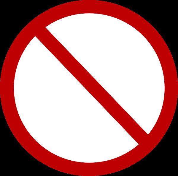 Danger clipart non smoking. Red no circle clip