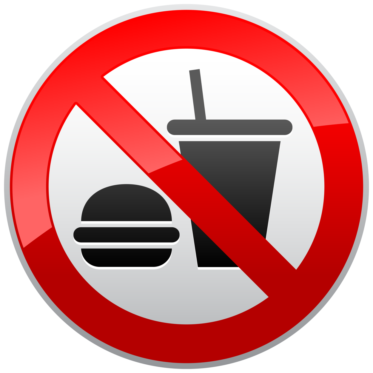 No eating or drinking. Danger clipart non smoking