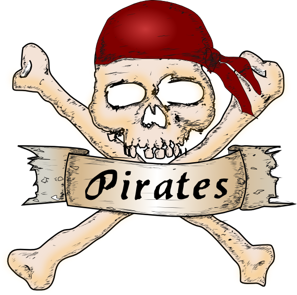 Pirate clipart sign. Pirates symbol clip art