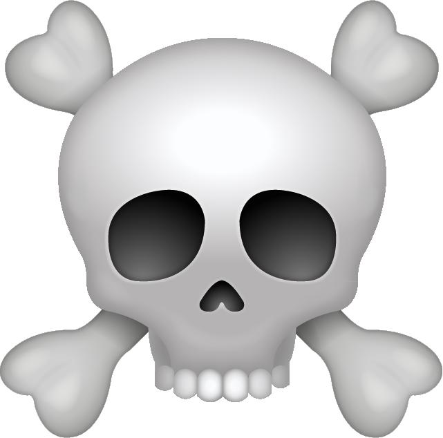 Download pirate skull icon. Emoji clipart iphone